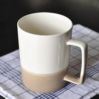 450ML to 500ML Starbucks Cup Luxury Cups with Spoon Ceramic Mugs Laser Logo Printing Gift Products