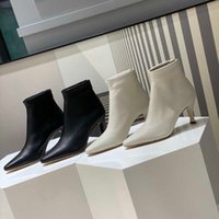 2020 Niche Original Order by Pointed Ankle Boots Sheepskin Stiletto Sexy All-Match Autumn and Winter Female Boots High Heel Elastic Socks Bo