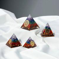 1 قطعة الكريستال الطبيعي الملونة macadam شقرا العلاج حجر ريكي برج اوغن الهرم الحلي