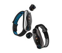 스마트 시계 이어폰 2 in 1 TW Ear Phone 팔찌 방수 스포츠 셀 통화 모바일 헤드셋 무선 블루투스 연결