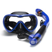 Diving Masks Anti-Fog Tempered Glass Silicone Adult Swimming Mirror Durable Scratch Resistance Anti-Fall Anti-Slip Dive Breathing Tube 2021