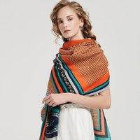 Scarves 2021 Women Cotton Scarf Big Shawls Pashmina Hijab Fashion Print Lady Beach Stole Head Bufanda Mujer