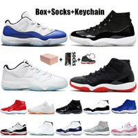 nike air jordan 11 jordan retro 11 11s 2021 Con CAJA Mujeres Hombres Zapatillas de baloncesto Jumpman 11 Concord Jubilee 25th Anniversary Low Legend Blue Bred Sneakers