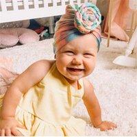 طباعة الطفل القطن بيني لطيف الدب الأذن bowknot العمامة القبعات الحلو لينة 0-4 طن قبعات مرنة ل ولد فتى بنات