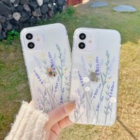 Full screen of flowers and plants phone cases with nice or happy word for iPhone 12 11 pro promax X XS Max 7 8 Plus