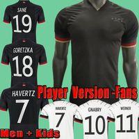 2021 Версия игрока Германия Allemagne Футбол Футбол Фанаты Hummels Kroos Футбольная футболка 20 21 Sane Volland Jersey Muller Havertz Wermer Camisa Alemasia Men + Kids Kits