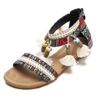 New flat sandals, plus size 35-42. Top designer colorful decoration, luxury fabric, round toe Korean version, classic, fashion shoes