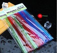 10.5 pulgadas de plástico de plástico de 26 cm Pajas reutilizables para tumblers delgados altos PEP Dulces Color PEJES PARA LAS HERRAMIENTAS DE LA BARRA DE COCTELA 2021