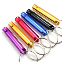 New Novelty Mini Aluminum Alloy Whistle Keyring Keychain For Outdoor Emergency Survival Safety Keyring Sport Camping Hunting