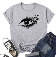Ресницы Eye Harajuku 90s Ulzzang графическая футболка женская футболка гранж эстетическая футболка мода с коротким рукавом топ женское