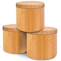 New Wooden Degustage Pot Bamboo Spice Shaker Zucchero Sal Sale Pepper Erbe Bottiglia di stoccaggio BOTTIGLIA SPICE JAR Kitchen DWD8661
