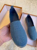 Clássicos Mocassins Mulheres Espadrilles Flat Sapatos Casuais Moda Designers Lona Plataforma Sapatilhas 35-41 com Box Q-37