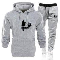 Tasarımcı 2 adet Sweatsuits Eşofman Erkekler Hoodies Pantolon Erkek Giyim Kazak Kazak Bayan Rahat Tenis Spor Eşofman Ter Suit