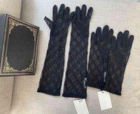 2021 Длинные кружева невесты Bridal Designer G Перчатки Кристаллы Свадебные аксессуары Невесты Пять безрековых запястья Женщины Bud Silk Перчатки