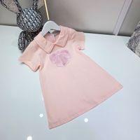 Chicas Pink T Shirts Vestidos de la marca Diseñador Pettiskirt Faldas de niña Tamaño 100-150 Tela de algodón peinado importado