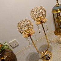 Cabezas de la mesa de la boda de cristal Piezas de la mesa de las candelabros del soporte de la vela de la vela Candlelabra Titulares