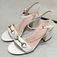 패션 플랫폼 샌들 디자이너 여름 여성 신발 가죽 여성의 하이힐 플랫폼 여성의 아름다운 결혼식 신발 065