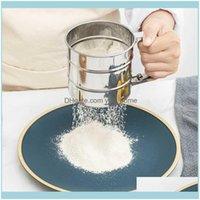 Cozinha de ferramentas, Bar de jantar Home GardenHigh Qualidade de aço inoxidável Farinha mecânica açúcar açúcar Sieve Sieve Forma Copa Bakeware