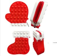 Finger Toy Fidget Bubble Coin Purse Chain Shoulder Bag Pencil Case Phone Wallet Bags Fashion Decompression Storage Toys LLE10325