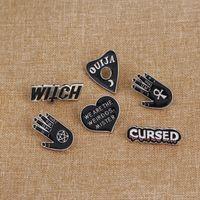 마녀 핀 컬렉션 펜타그램 트리플 달 별자리 마법사 브로치 Witchy Gothe Goth Jewelry Lapel Pin Witches1 746 Q2