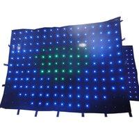 사용자 정의 크기 애니메이션 패턴 무대 LED 비디오 커튼 스크린 스테이지 조명 효과 배경 DMX 컨트롤러 배경