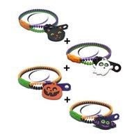Halloween Bracelets Basket Zipper Stuffers Fidget Decompression Toys Sensory Friendship Jewelry for Kids Birthday Gifts