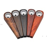 Newbriar wood wood ugello ugello lunghezza 76mm larghezza 17mm registro colore porta sigaretta uomo uomo portatile tubi semplicità retrò ewf7866