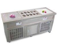 Erzoda Ice cream roll machine Ice cream maker KO-2010 Stainless steel frozen yogurt machine Glace Rolls machine