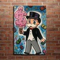Alec Tekel Graffiti El Sanatları Tuval Üzerine Yağlıboya, \ 5ikh