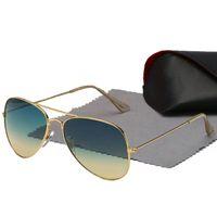 مصمم نظارات شمسية ظلة فاخرة معدنية الذهب الإطار للجنسين العلامة التجارية UV400 نظارات أعلى جودة 17 ألوان مع مربع