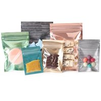 2000pcs lot 4 Size Reclosable Aluminum Foil Clear Drawing Retail Zipper Lock Package Bag Mylar Pack Bag for Food Candy Nuts