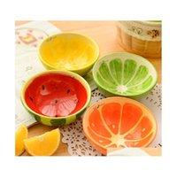 Lovely Fruit Design Ciotole in ceramica Colore Ghiaccio Bowl Pudding Stampo Contenitori Creativi Cucina Dinnerware Forniture per la casa 4pcslot VR3F M93el