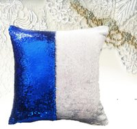 8 colorSequins Mermaid Pillow Case Cushion sublimation magic sequins blank pillow cases hot transfer printing DIY personalized gift FWA6047
