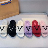Fwomen Winter Peluche Pantofole Sandali Designer Sandali LNDoor Atle Shoes Slipper caldo per donna Slides Flip flops Top Quality with Box
