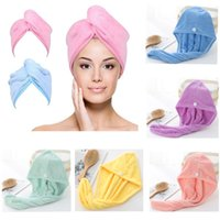 Shower Cap Microfiber Hair Towel Wrap For Women Super Absorbent Quick Dry Hairs Turban Fors Drying Curly Long Thick HH21-257