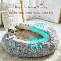 Style Pet Dog Cat Bed Round Plush Warm House Soft Donut Cave Cuddler Sleeping Bag Sofa Cushion Nest Beds & Furniture