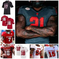 NC State North Carolina Wolfpack NCAA College Football Jersey 16 Bailey Hockman 12 Jacoby Brissett 9 Bradley Chubb 81 Torry Holt