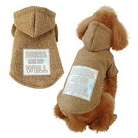 Dog Apparel Puppy Outfit Pet Clothing Winter Jumpers Coat Warm Hoodie Clothes Costume Kitten Windbreak Jacke For