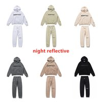 Nebbia Essentials Tracksuits Tute Felpe con cappuccio Felpe calde Uomini essenziali Jogging Suits Tracksuit Sportwear Set Tuta ESS Long Pants Stripe Joggers Mens