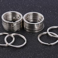 1200pcs Stainless Steel KeyChain Round Flat Line key ring Keyrings 28mm 30mm 32mm 33mm 35mm Dia Sliver Alloy Rings Key-Holder for Jewelry Making DIY Tools HYS43-2