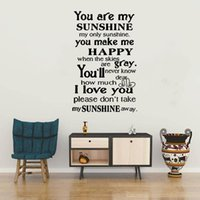Wall Stickers You Are My Shineshine Quote Sentence Sticker Pvc Art Bedrooms Decoration Decal DW7239
