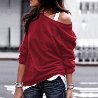 Women Top Fashion Long Sleeve T-shirt 5 Colors 2021 Fall Winter Round Neck Women's