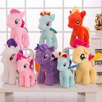 25cm Cartoon Einhorn Plüsch Puppe Kinder Regenbogen Kleine Pferde Weiche Gefüllte Tier Spielzeug Unicorn Puppe Party Gunst 6 Farben