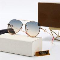 2021 Luxo Top Quality Marca Rodada Rosa Designer Sunglasses para Mulheres Metal Sun Óculos 2237 Homem UV400 Gradiente Designers Eyewear Feminino