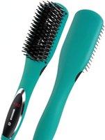 فرشاة الشعر فرشاة فرشاة حرارة استقامة فرشاة - تسخين سريع السيراميك الحديد الأيونات السالبة كهربائية اغلاق التحكم في درجة الحرارة المضادة للتحرير المزدوج الجهد