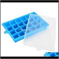 Seaux et refroidisseurs Soiser avec couvercle 24 grilles Square Diy Ecofriendly Petits Fruits Mouling Mouling pour Cuisine Bar Boire Cube de glace Make OCW 3F5JL