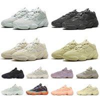 Yeezy Boost 500 Yeezys Yezzy Kanye West كبيرة 36-47 كاني تشغيل المدربين أحذية النساء المهنية الرياضية رياضية الحجر لينة الرؤية العظام الأبيض فائدة أسود استحى الملح الوردي الركض