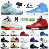 Ayakkabı Nike Air Jordan Retro 5 OFF White 5s Raging Bull Jordans Erkek Bayan Basketbol Ayakkabıları Jumpman Aj Black Muslin What The Eğitmenler Spor Ayakkabılar