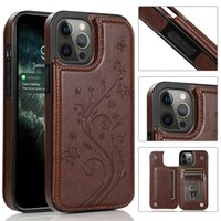 Shockproof Phone Cases for iPhone 13 12 11 Pro Max X XS XR 7 8 Samsung Galaxy S21 S20 Note20 Ultra Note10 S10 Plus Multi Cards Photo Frame PU Leather Stand Protective Cover