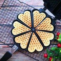 Pişirme Kalıpları Kabarcık Waffle Maker Kek Kalıp DIY Bisküvi Ekmek Aksesuarları Araçları Patisserie Mutfak Yemek Bar Eb50hf